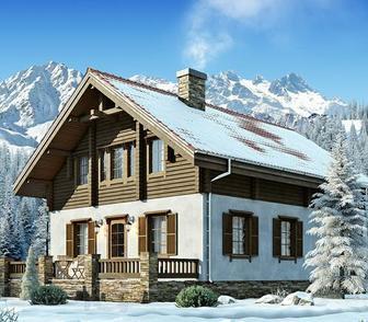 Комбинированные дома из оцилиндрованного бревна от Кровмаркет